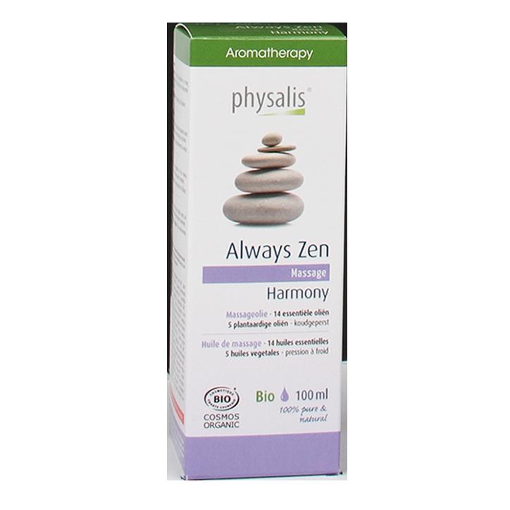Physalis Massageolie Always Zen (100ml)