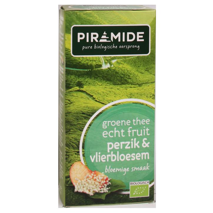 Piramide Groene Thee Perzik (20 Theezakjes)