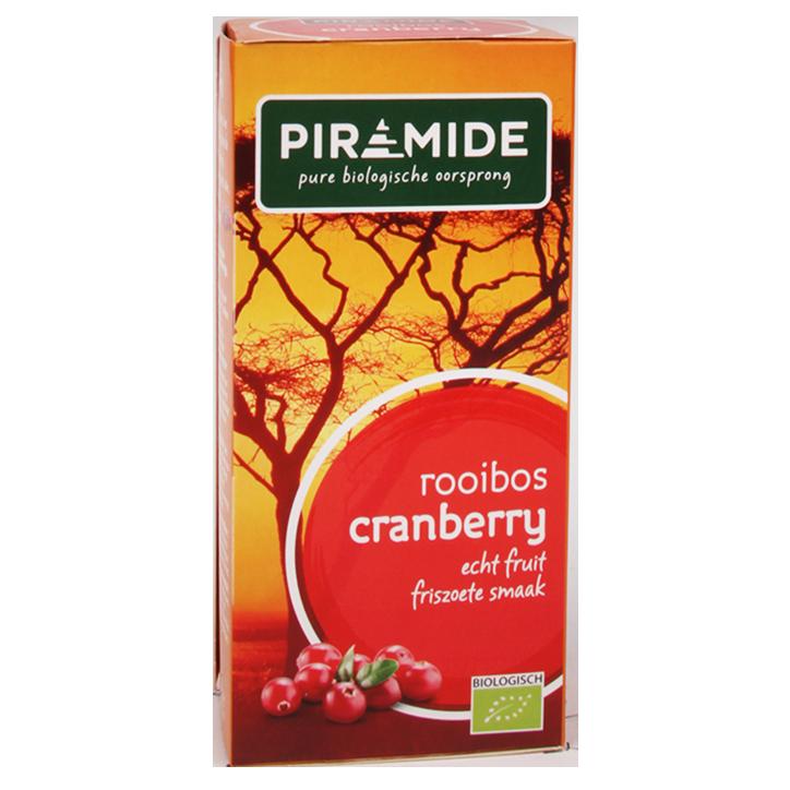 Piramide Rooibos Cranberry (20 Theezakjes)