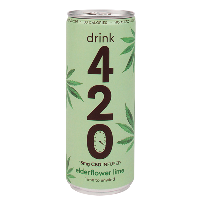 420 CBD Drink Elderflower Lime (250ml)