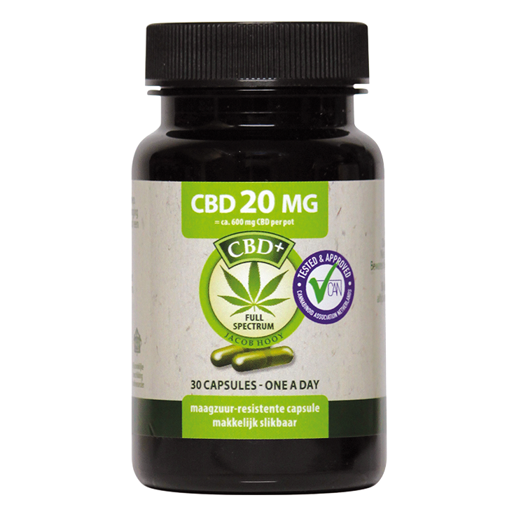 Jacob Hooy CBD, 20mg (30 Capsules)