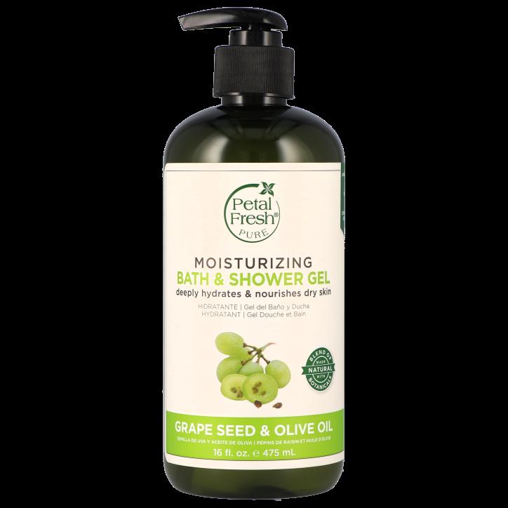 Petal Fresh Moisturizing Bath & Shower Gel Grape Seed & Olive Oil (475ml)