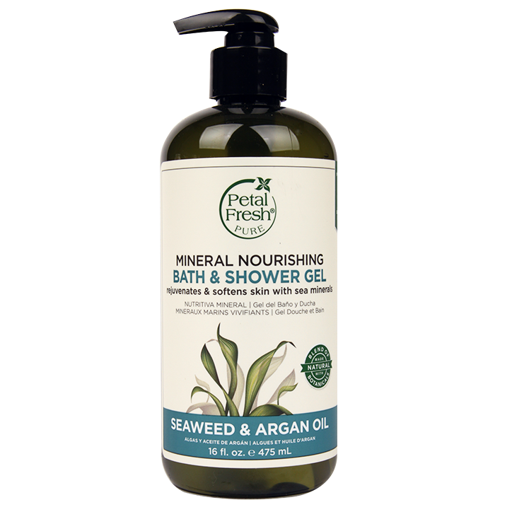Petal Fresh Mineral Nourishing Bath & Shower Gel Seaweed & Argan Oil (475ml)