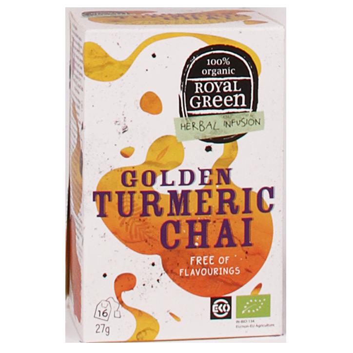 Royal Green Golden Turmeric Chai Bio (16 Theezakjes)