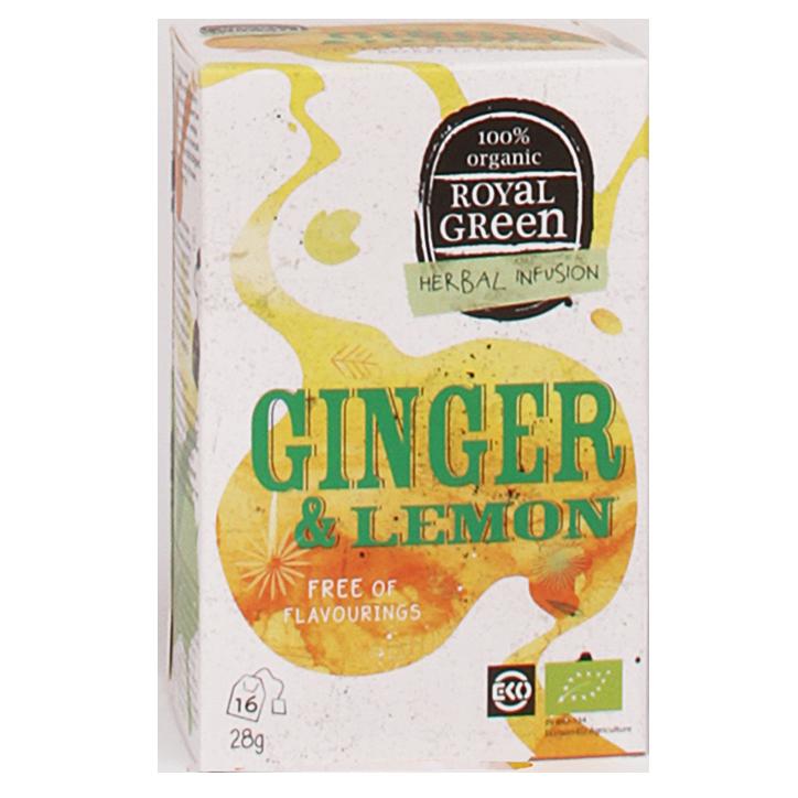 Royal Green Ginger Lemon Bio (16 Theezakjes)