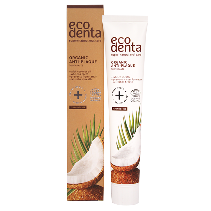 Ecodenta Tandpasta Anti-Plak Kokos (75ml)