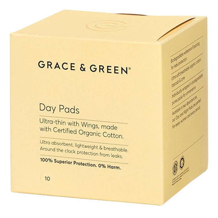 Grace & Green Day Pads Maandverband Met Vleugels (10 stuks)