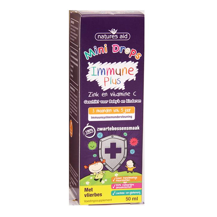 Natures Aid Mini Drops Immune Plus Zink & Vitamine C