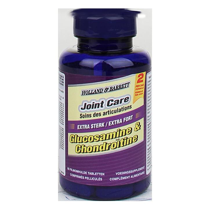 Holland & Barrett Glucosamine Chondroïtine Extra Sterk (60 Tabletten)