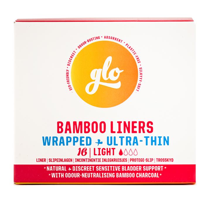 glo Bamboo Liners for Sensitive Bladder Inlegkruisjes (16 stuks)
