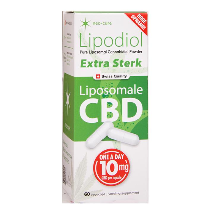 Neo-Cure Lipodiol Liposomale CBD Extra Sterk, 10mg (60 Capsules)