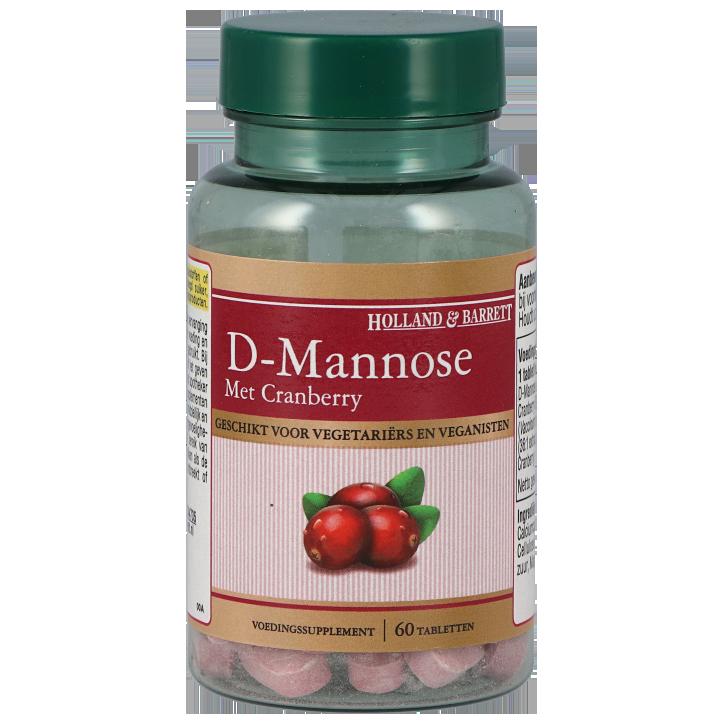 Holland & Barrett D-Mannose met Cranberry (60 tabletten)
