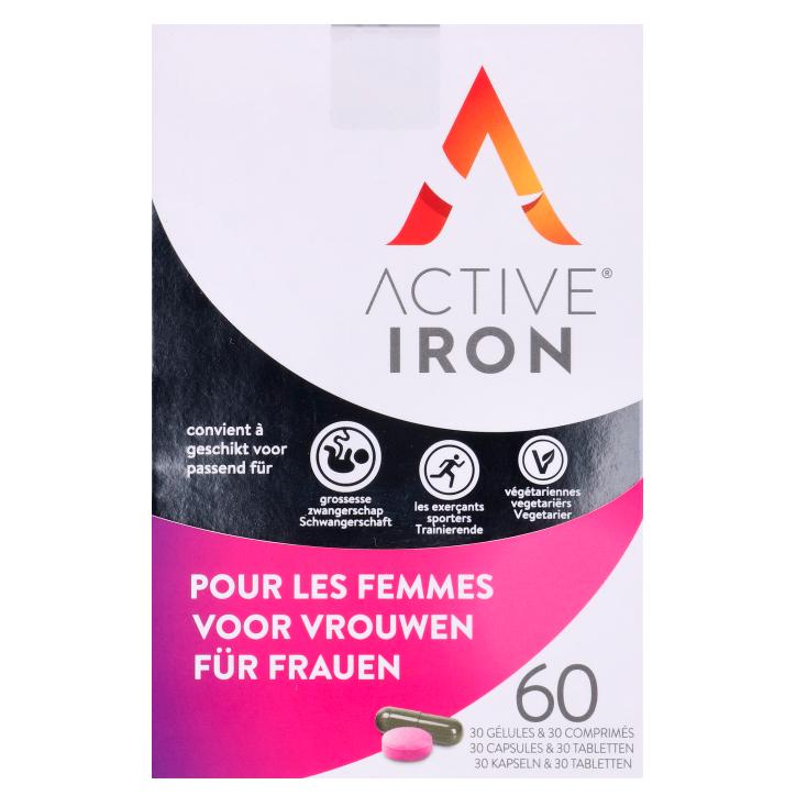 Active Iron For Women (30 Capsules en 30 Tabletten)