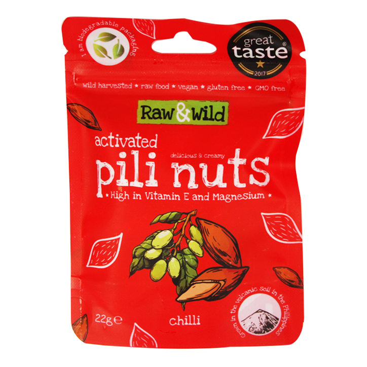 Raw & Wild Activated Pili Nuts Chilli (22gr)