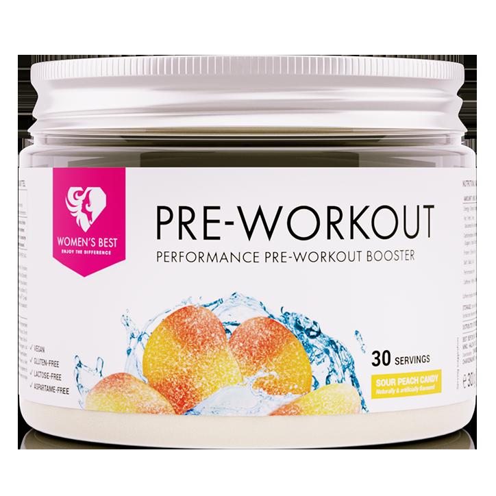 Women's Best Pre Workout Booster Sour Peach Candy (300gr)