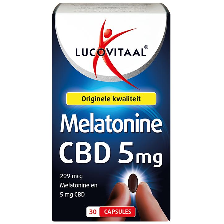 Lucovitaal Melatonine + CBD 5mg (30 Capsules)