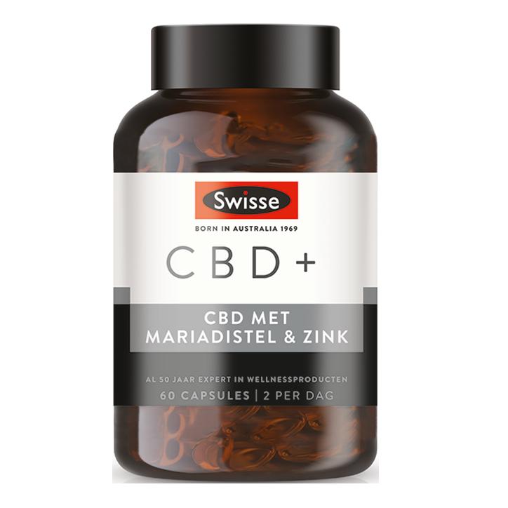 Swisse CBD + Mariadistel & Zink (60 Capsules)