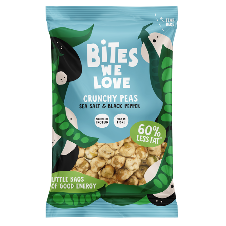 Bites We Love Crunchy Peas Black Pepper (35gr)
