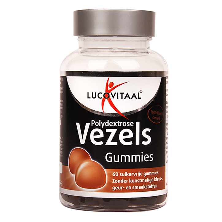 Lucovitaal Polydextrose Vezels Tutti Frutti (60 Gummies)