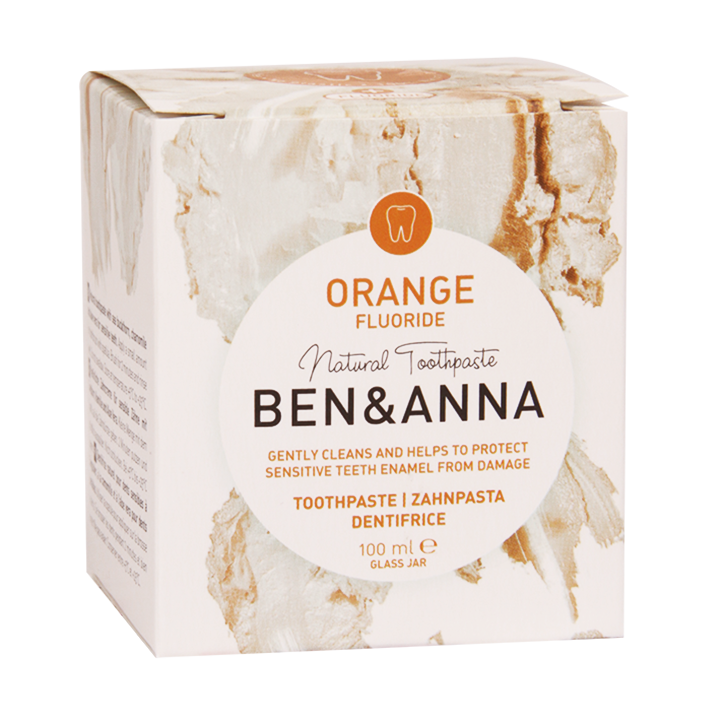 Ben & Anna Tandpasta met Fluoride Orange (100ml)
