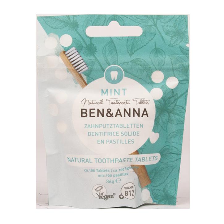 Ben & Anna Natuurlijke Tandpasta Tabletten (100 Stuks)
