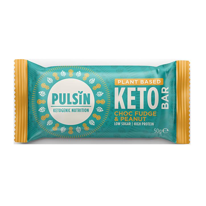 Pulsin Choc Fudge & Peanut Keto Bar (50 g)
