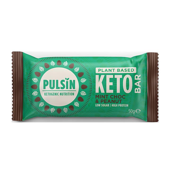 Pulsin Mint Chocolate & Peanut Keto Bar (50 g)