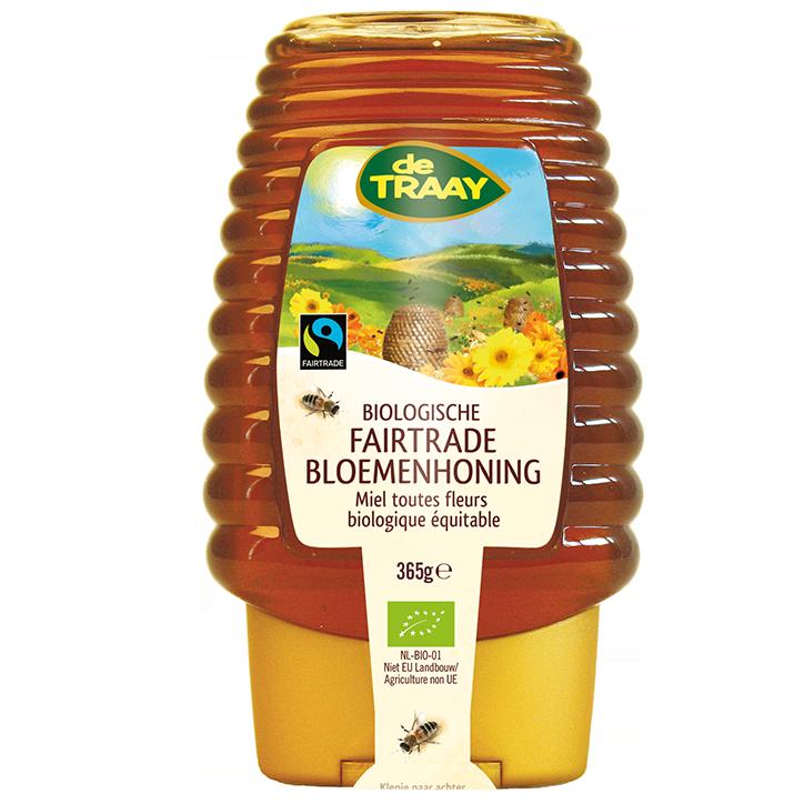 De Traay Biologische Fairtrade Bloemenhoning (450 gram)