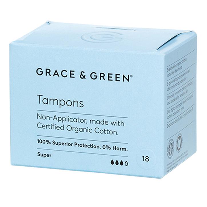 Grace & Green Tampons Super (18 stuks)
