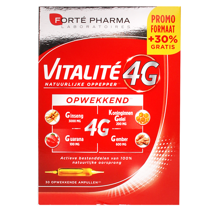 Forte Pharma Vitalite 4G Opwekkend (30 Ampullen)
