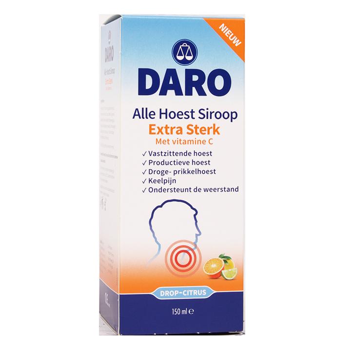 Daro Alle Hoest Siroop Extra Sterk Drop-Citrus (150ml)