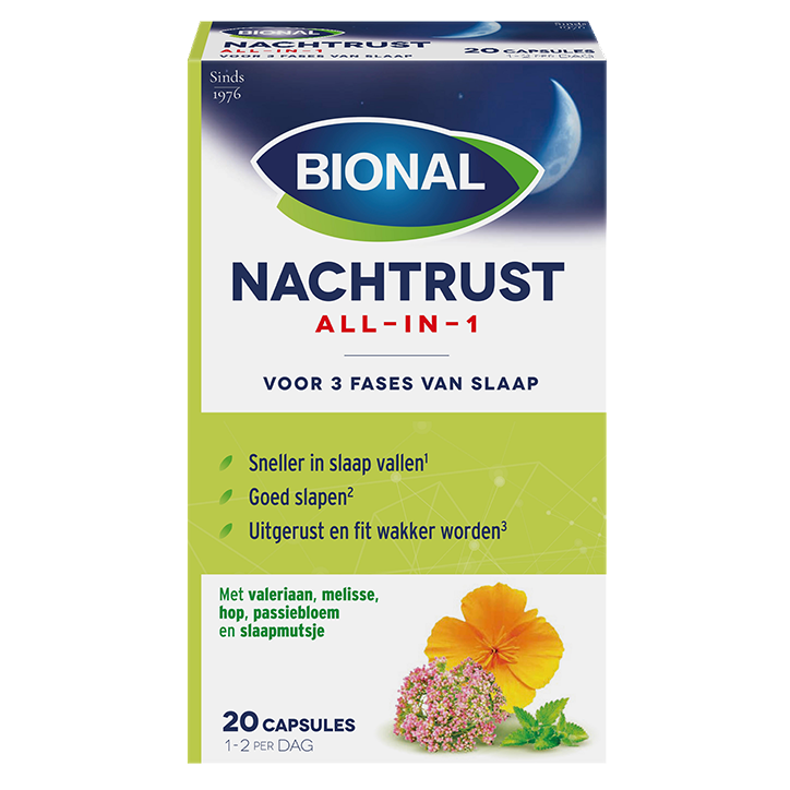 Bional Nachtrust All-In-1 (20 Capsules)