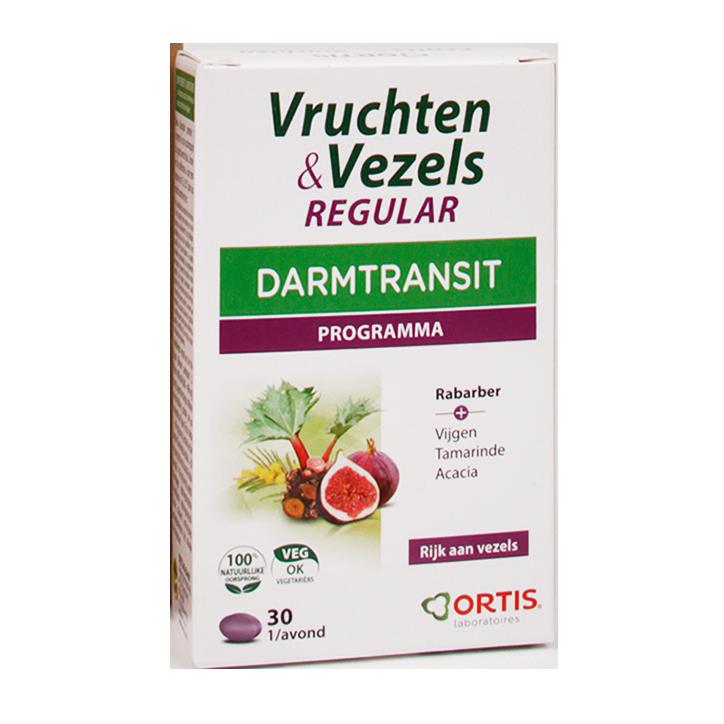Ortis Vruchten & Vezels Regular Darmtransit (30 Tabletten)