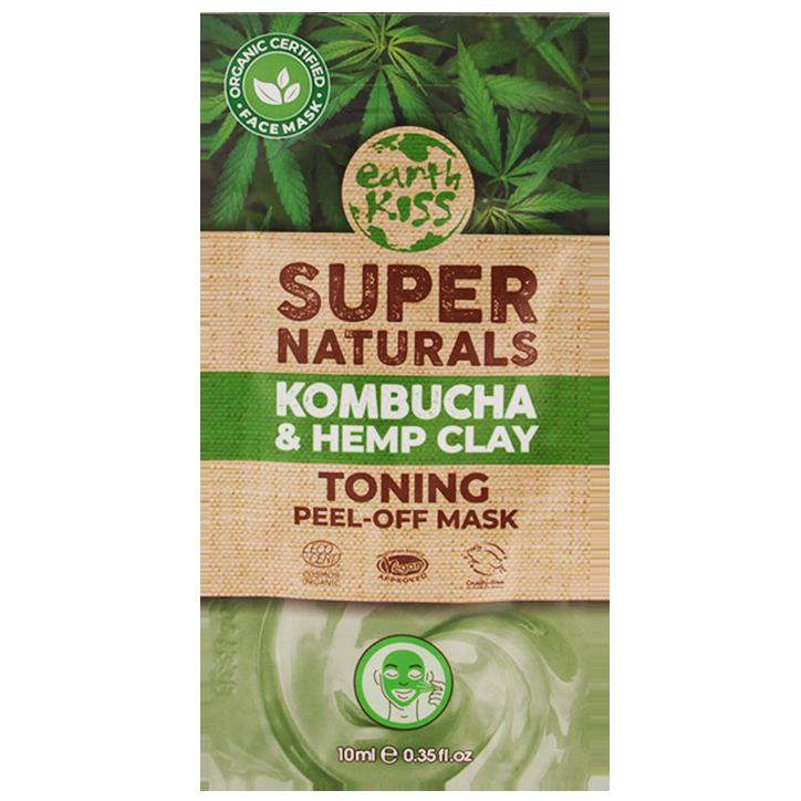 Earth Kiss Toning Peel-Off Mask Kombucha & Hemp Clay (10ml)