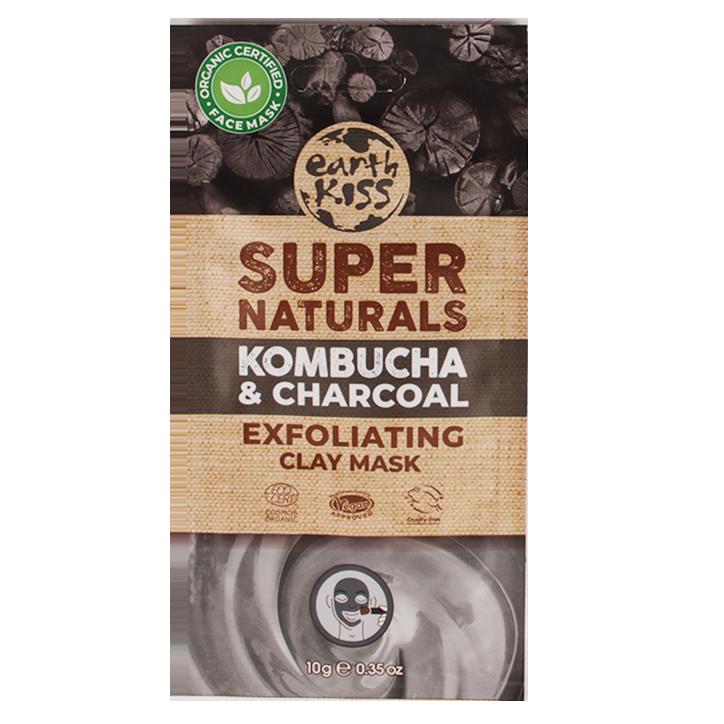 Earth Kiss Exfoliating Clay Mask Kombucha & Charcoal (10ml)