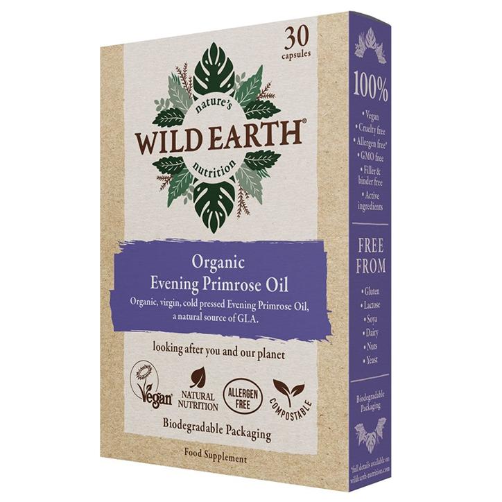 Wild Earth Organic Evening Primrose Oil (30 Capsules)