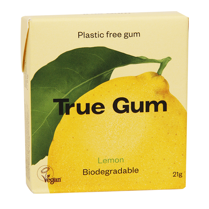 True Gum Lemon Kauwgom