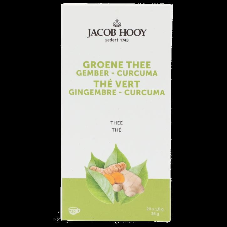 Jacob Hooy Groene Thee Gember-Curcuma (20 zakjes)
