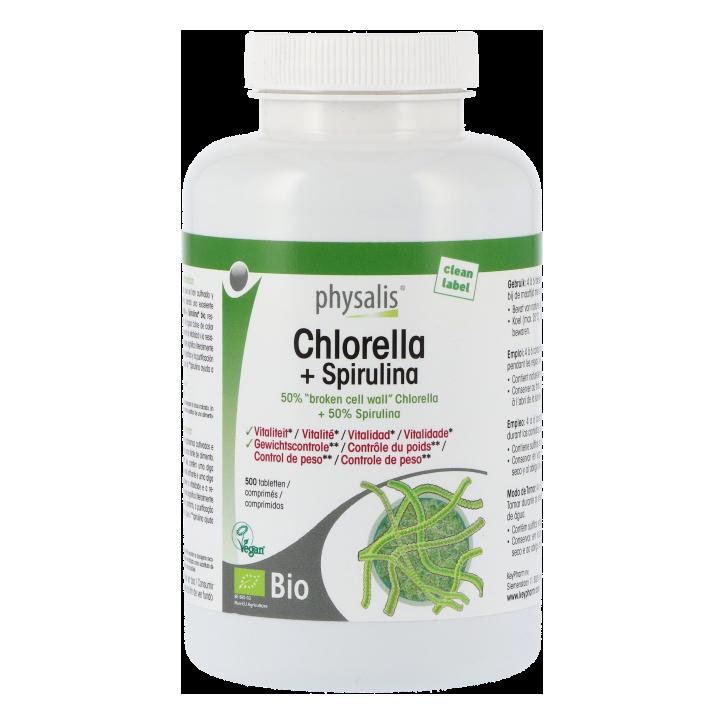 Physalis Chlorella + Spirulina (500 tabletten)