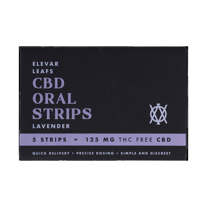 Elevar Leafs CBD Orale Strips Lavendel (5 strips)