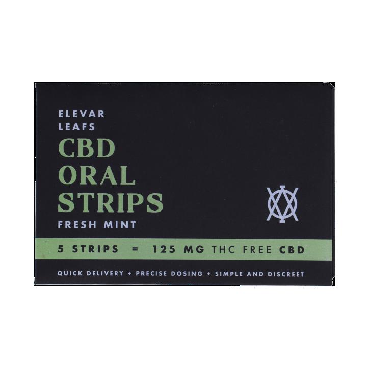 Elevar Leafs CBD Orale Strips Fresh Mint (5 strips)