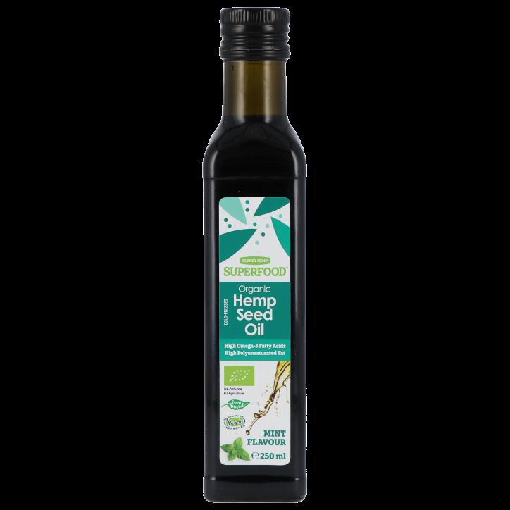 Planet Hemp Superfood Organic Hemp Seed Oil Mint Flavour (250ml)