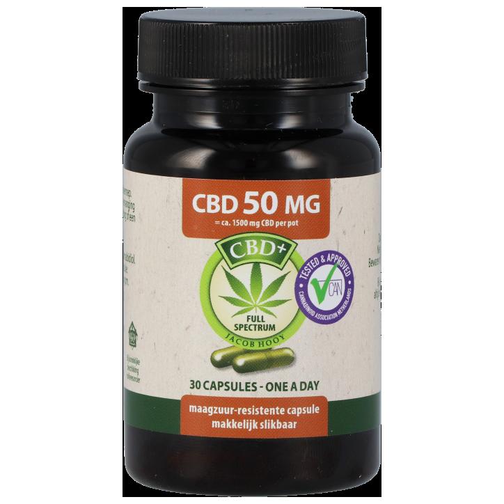 Jacob Hooy CBD capsules 50 mg (30 capsules)