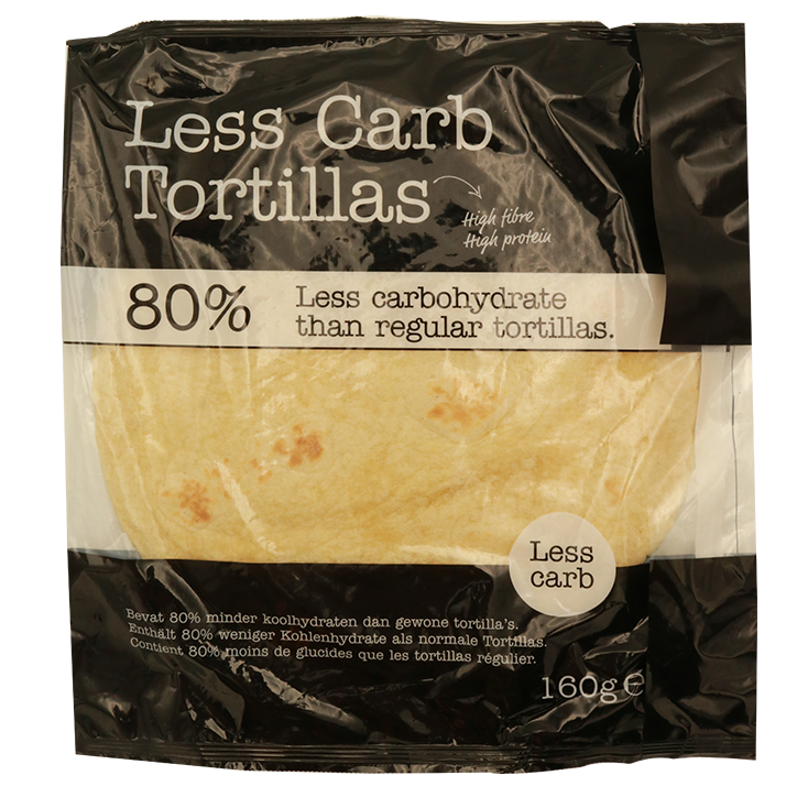Smaakt Less Carb Tortillas (4 stuks van 40gr) (vervanger atkins)