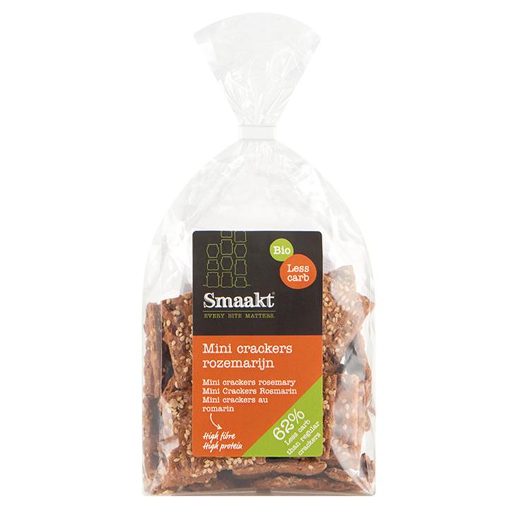 Smaakt Less Carb Mini Crackers Rozemarijn Bio (vervanger Atkins)
