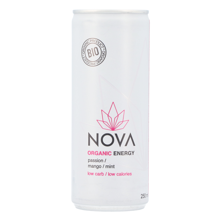 Nova Organic Energy Passion Mango Mint Bio (250ml)