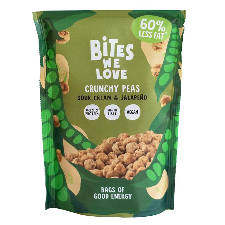 Bites We Love Crunchy Peas Sour Cream & Jalapeño (100g)