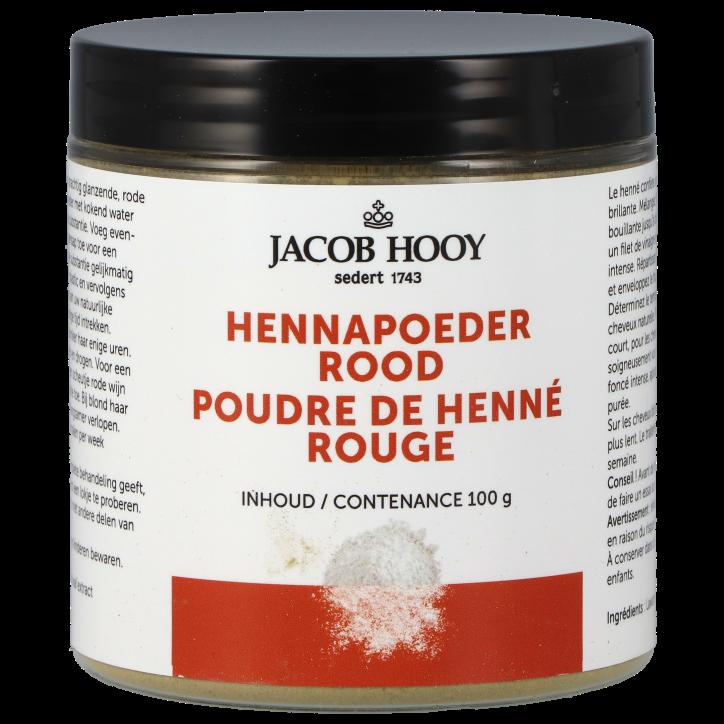 Jacob Hooy Henna Haarverf Poeder Rood