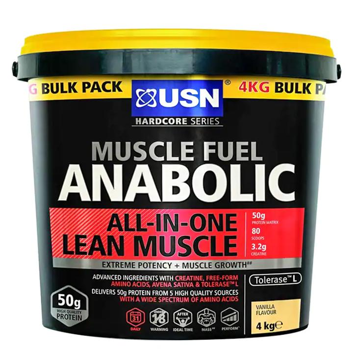 USN Muscle Fuel Anabolic Vanilla Powder 4000g