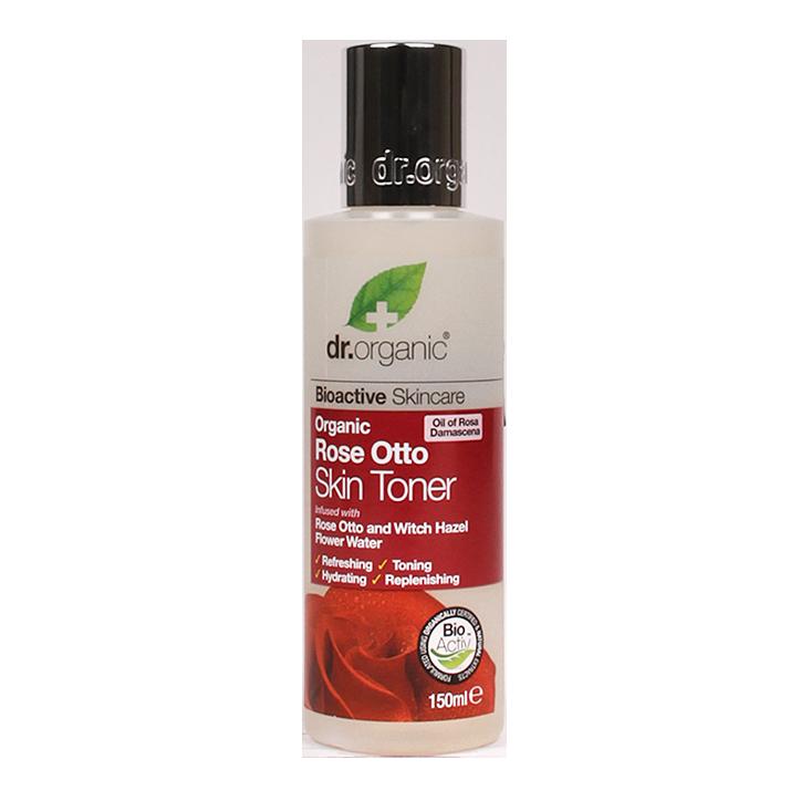Tonic pour la peau Dr. Organic à l'Huile de de rose Otto 200 ml